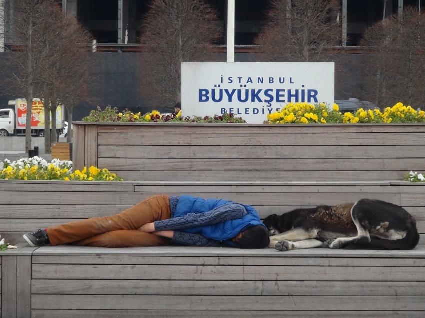 Taksim'de duygulandıran görüntü