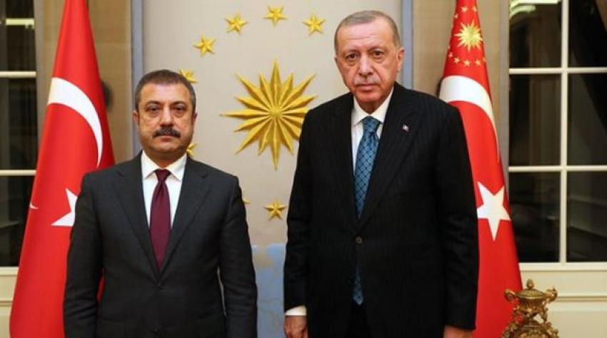 Erdoğan, Merkez Bankası Başkanı Kavcıoğlu'nu kabul etti