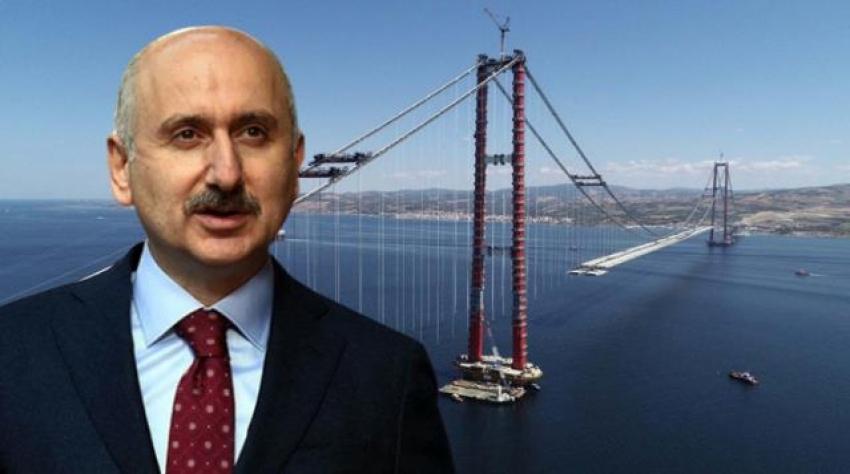 Çanakkale Köprüsü'nün geçiş ücreti 15 euro olarak açıklandı