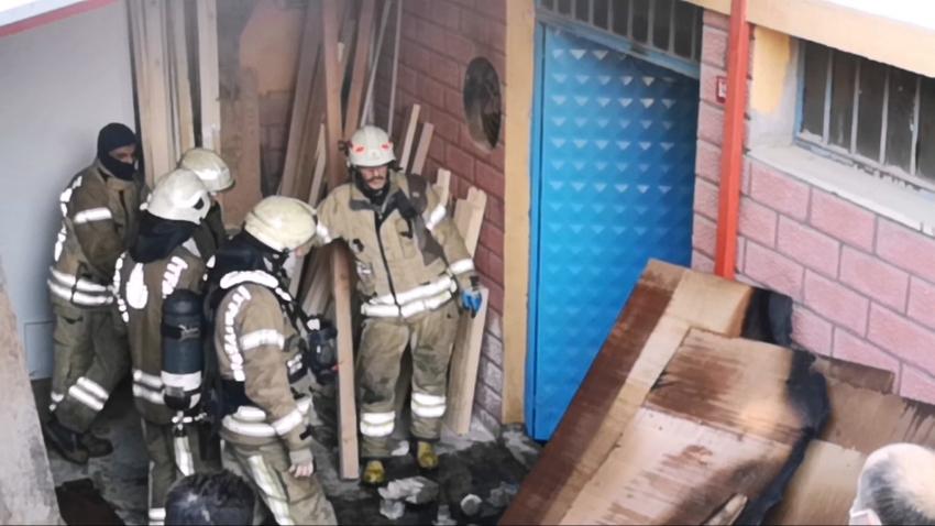 Mobilya atölyesinde yangın