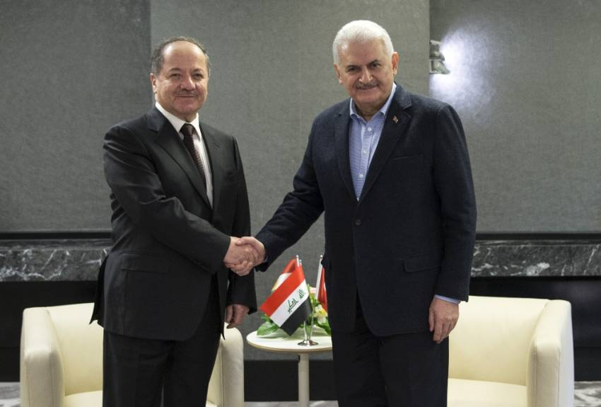 Başbakan Yıldırım Münih'te Barzani'yle görüştü