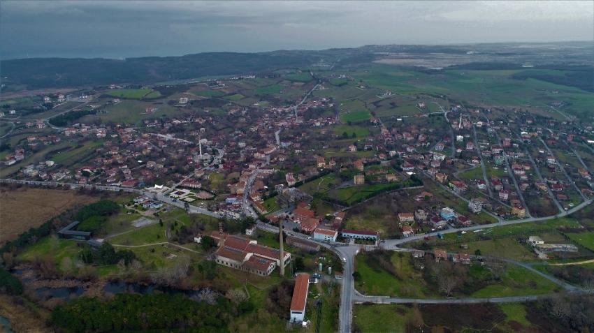 Kanal İstanbul güzergahındaki o köy havadan görüntülendi