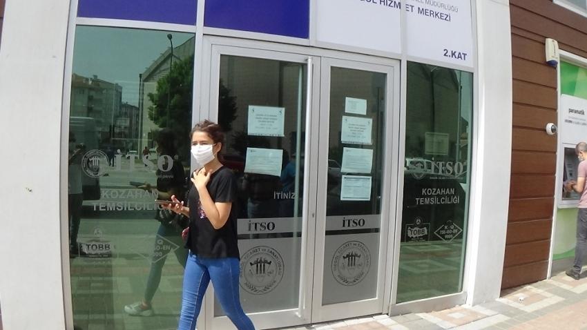 İş-kur İnegöl şubesi kapıları kapattı