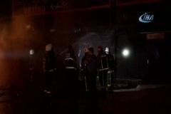 Eğlence mekanının bulunduğu binada çıkan yangın korkuttu