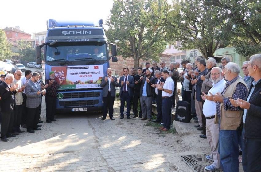 Bursalı çiftçilerden mülteci kamplarına TIR dolusu meyve