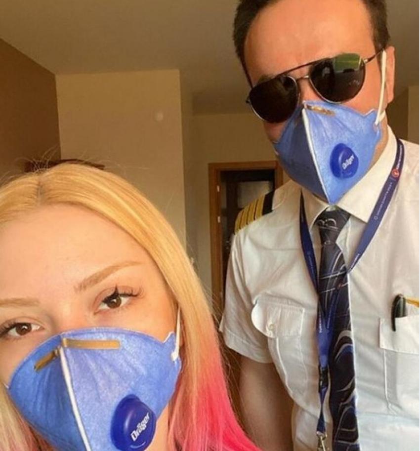 Ece Seçkin ve pilot nişanlısı karantinada