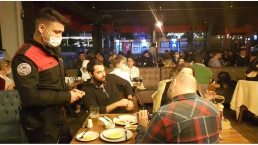 Bursa'da eğlence mekanlarında koronavirüs denetimi
