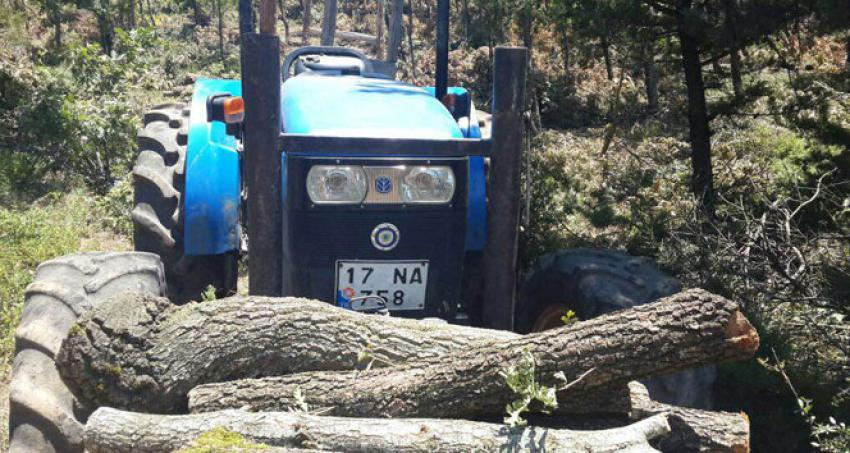 El freni çekilmeden park edilen traktör, sürücüsünü ezdi