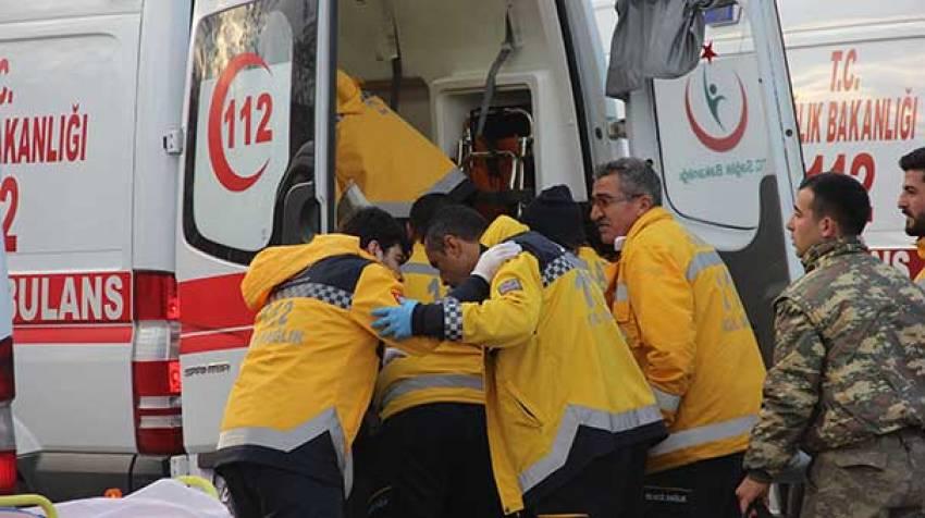 El Bab'da yaralanan 7 asker Kilis'e getirildi