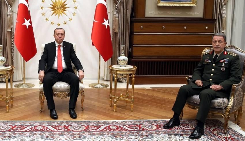 Erdoğan Akar'ı kabul etti