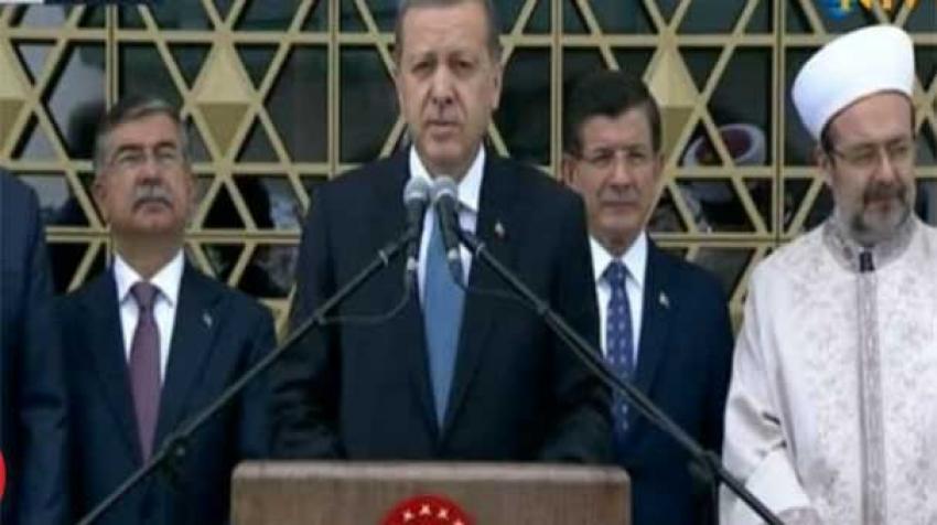 Erdoğan cami açtı
