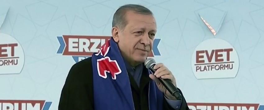 """Erdoğan: """"Huzuru bozanlara tarihi bir ders veriyoruz"""""""