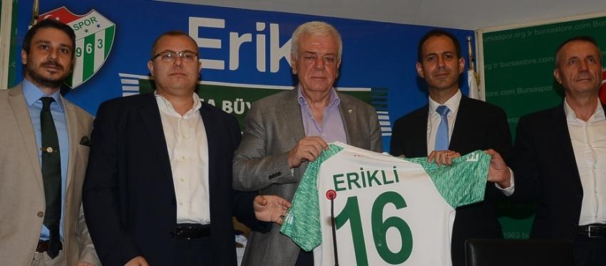 Erikli ile sponsorluk anlaşması imzalandı