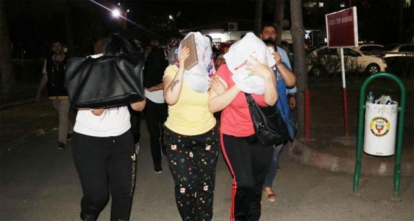 Eskort çetesine operasyon: 8 kişi tutuklandı