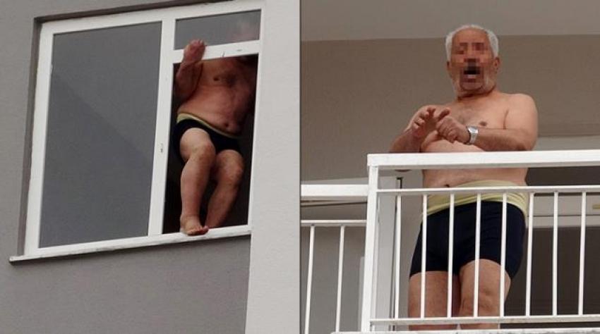 Komşularına cinsel organını gösteren adam...