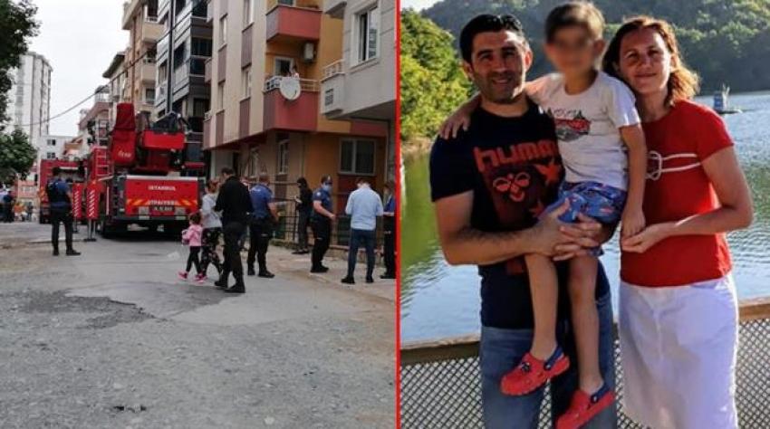 Evini ateşe vererek karısını öldürdü, oğlunu ağır yaraladı!