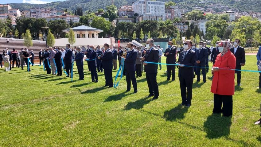 Cumhurbaşkanı Erdoğan Bursa Millet Bahçesi'ni açtı