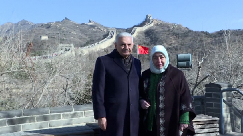 TBMM Başkanı Yıldırım Çin Seddi'nde