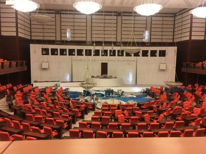 TBMM Genel Kurulu'nda hazırlıklar son aşamada