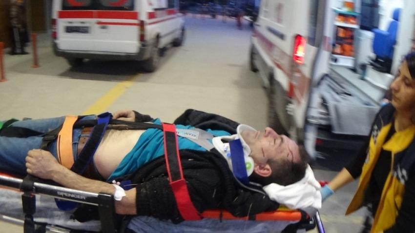 Bursa'da motosiklet sürücü ağır yaralandı