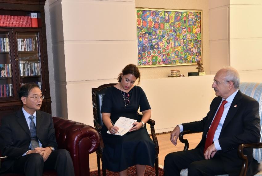Kılıçdaroğlu, Çin Büyükelçisini kabul etti
