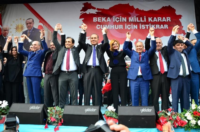 Cumhur İttifakı'nın Adana adayları tanıtıldı