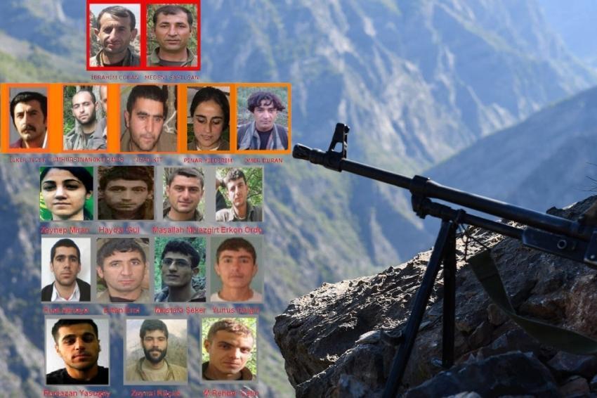 Teröre büyük darbe: 20'si sözde lider kadroda 94 terörist...