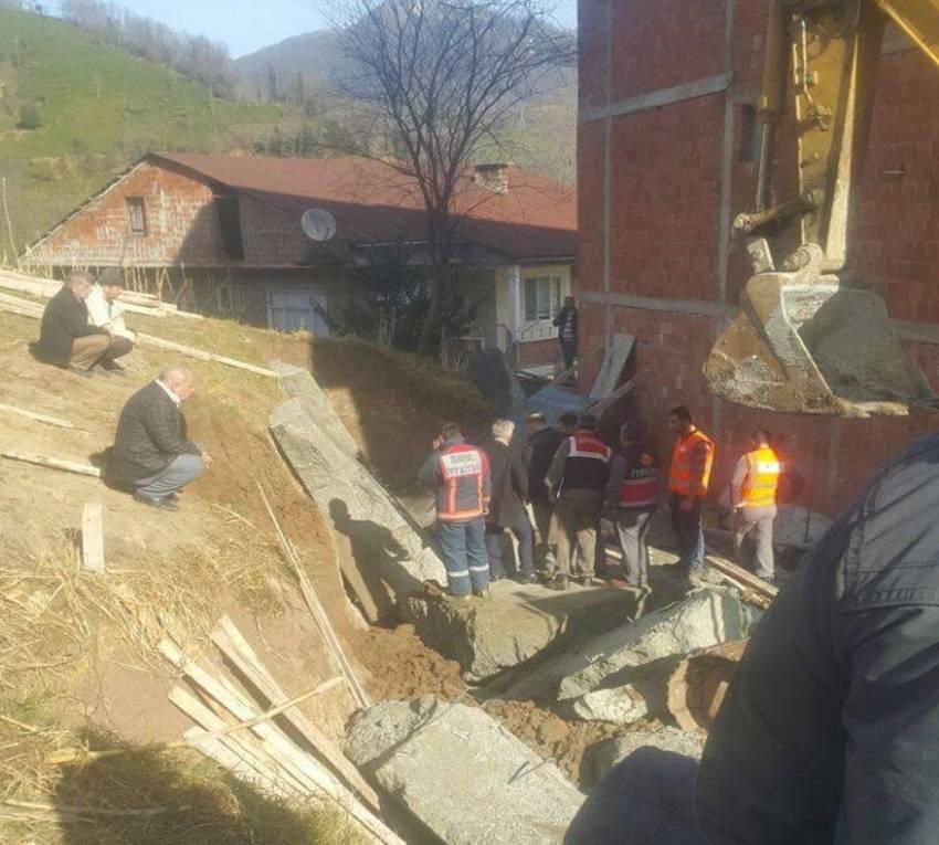 Çöken duvarın altında kalan işçi hayatını kaybetti