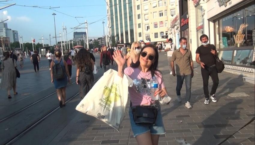 İstiklal Caddesi'nde pes dedirten görüntüler