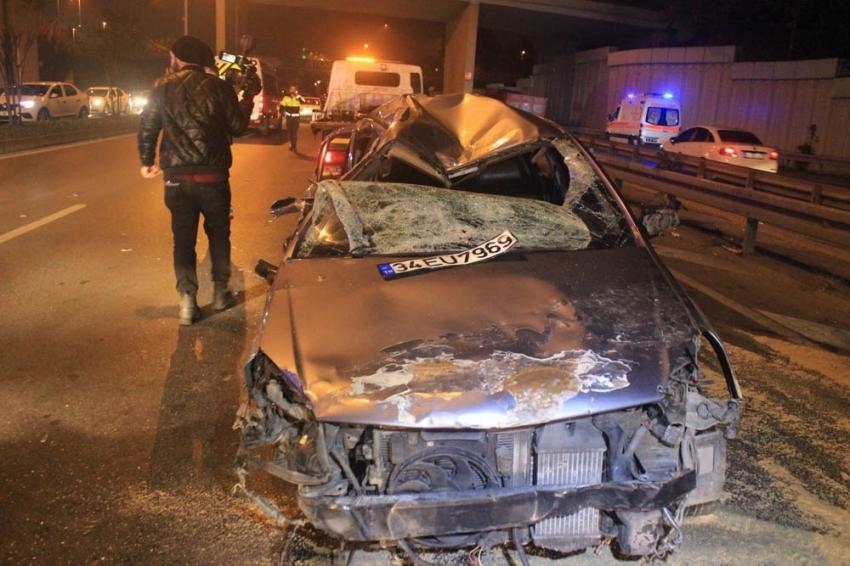 Alkollü sürücü dehşeti: 2'si ağır, 3 yaralı