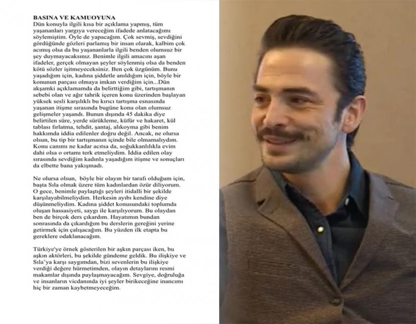 Ahmet Kural'dan şiddet iddiaları ile ilgili yazılı bir açıklama
