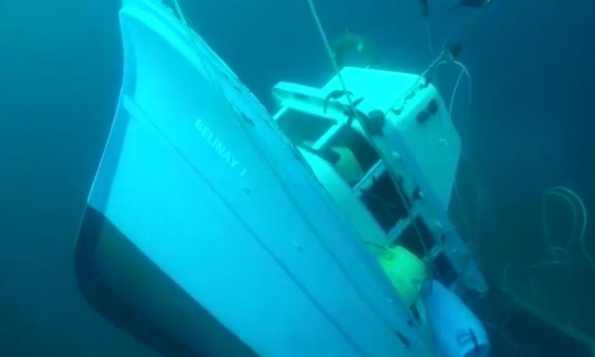 O teknenin enkazı bulundu