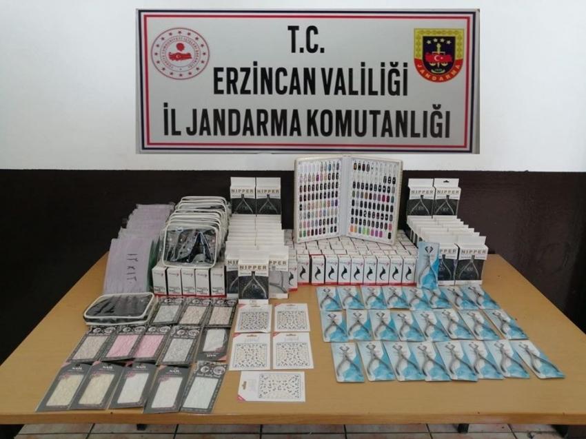 Erzincan'da gümrük kaçağı mallar ele geçirildi