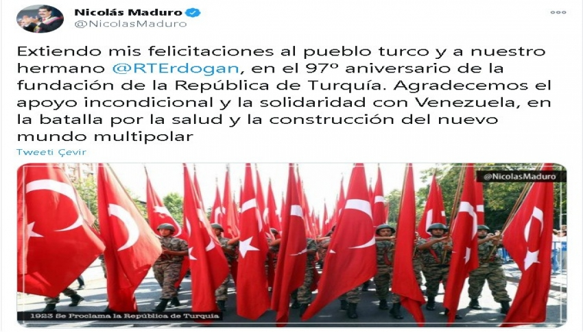 Maduro'dan Erdoğan'a teşekkür