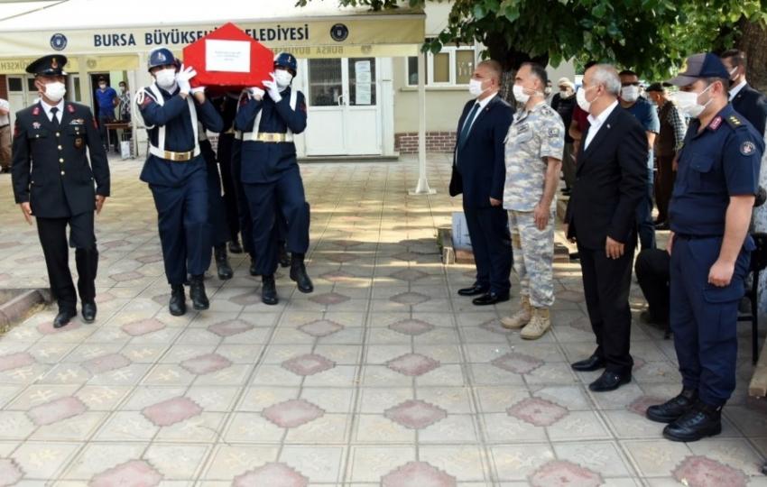 Şehit astsubay Bursa'da toprağa verildi