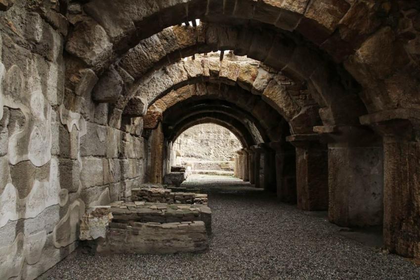 Tripolis'teki mozaikli villanın 4 odası daha gün yüzüne çıkarılacak