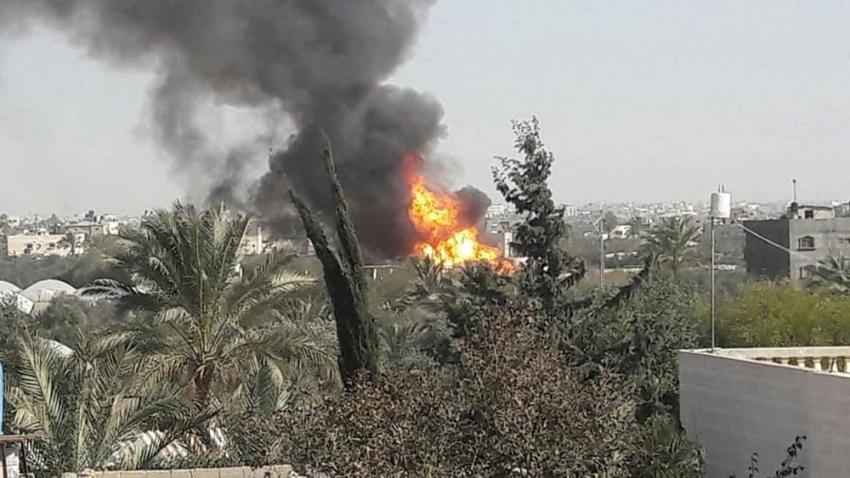 Gazze'de tanker patladı