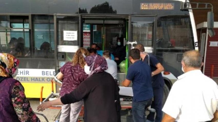 Bursa'da fenalaşan yolcuyu halk otobüsüyle hastaneye ulaştırdı