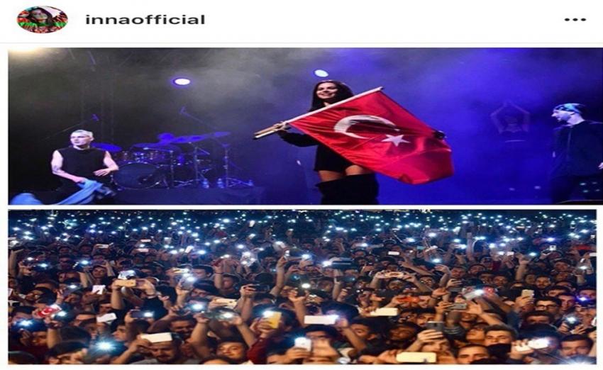 Inna'dan Türkiye'deki hayranlarına yeni yıl mesajı