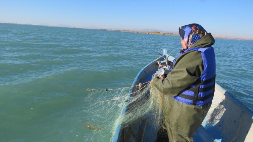Kadın balıkçılara destek