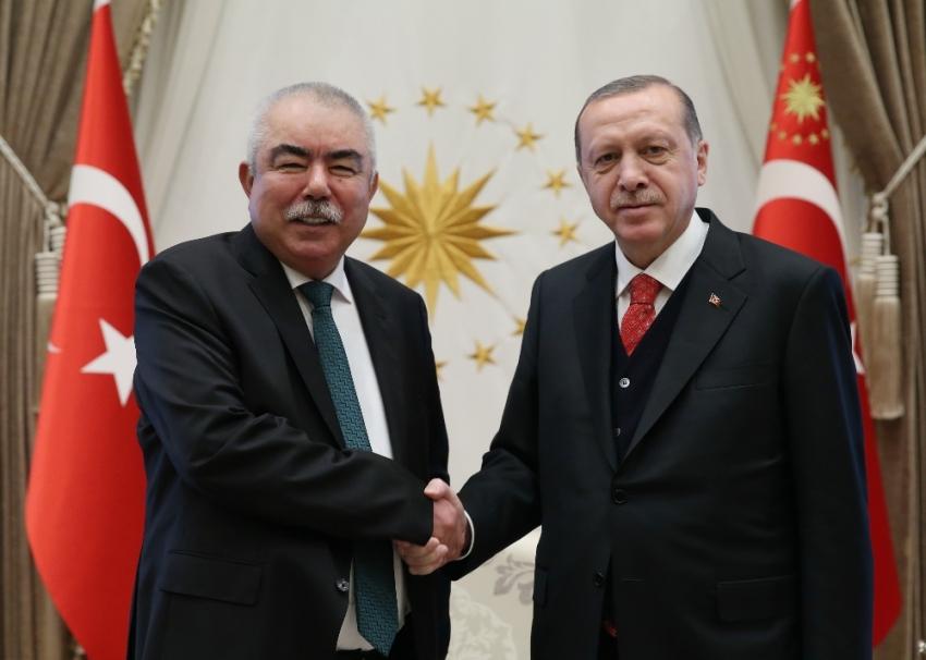 Cumhurbaşkanı Erdoğan, Raşit Dostum'u kabul etti