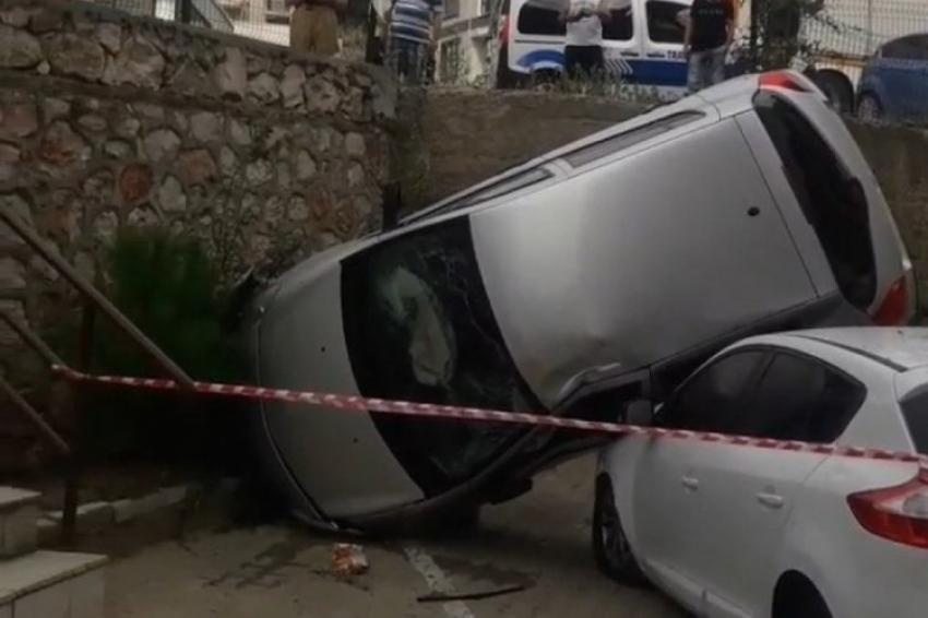 Mudanya'da akılalmaz kaza!