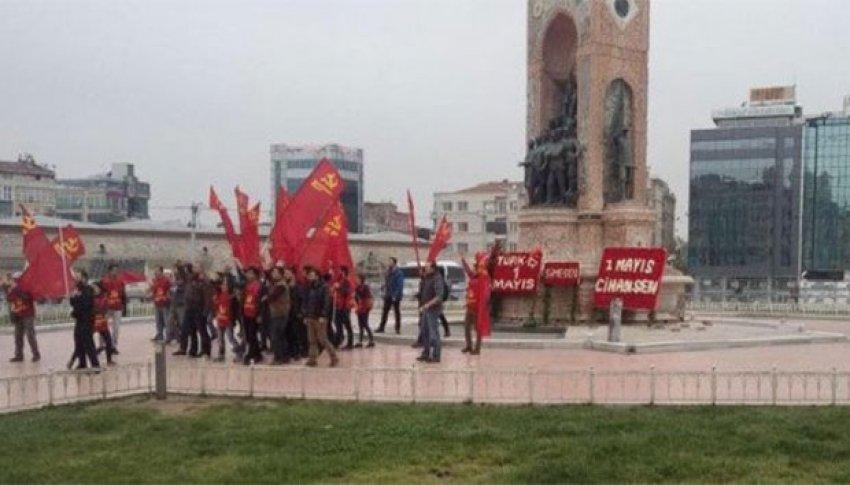 Taksim Meydanı'na koşarak girdiler
