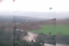 Fırtına obüsleri terör örgütü PYD mevzilerini böyle vurdu