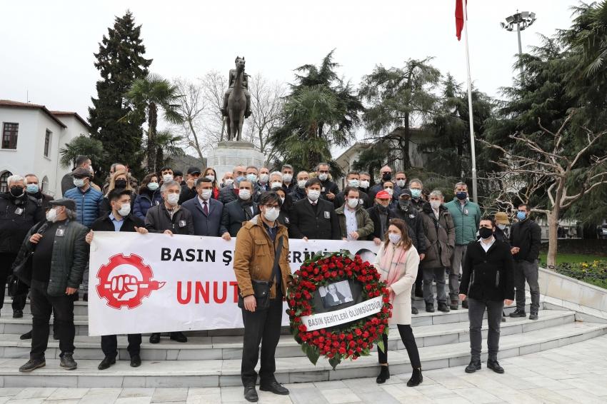 Bursa'da Uğur Mumcu'yu anma töreni