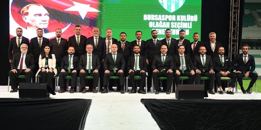 Bursaspor Yönetiminde görev dağılımı yapıldı
