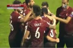 Hakan Çalhanoğlu'nun Hırvatistan'a attığı frikik golü