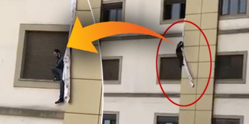 Korona şüphelisi hastaneden kaçmaya çalıştı