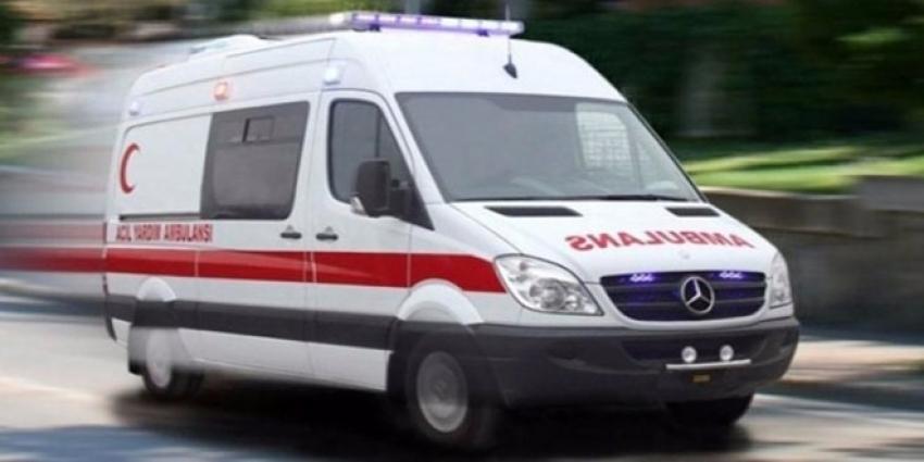 İşçi servisi yan yattı, 6 kişi yaralandı