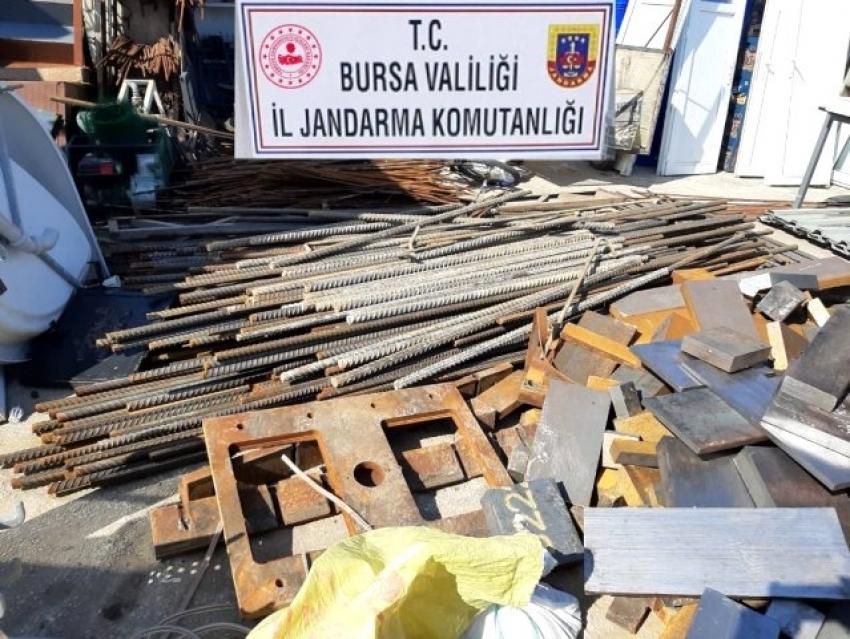 Bursa'da hızlı tren inşaatı demirlerini çalan hırsızlara şok baskın